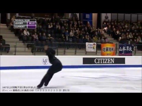 しっかり観てみよう 宇野昌磨2015世界ジュニアフィギュアスケート選手権FS『ドンファン』