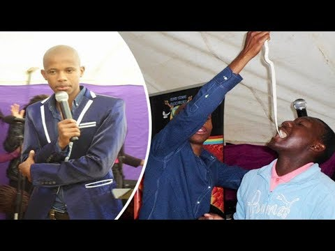 South African 'Miracle-Working Prophet' fed worshippers LIVE SNAKES to test their faith