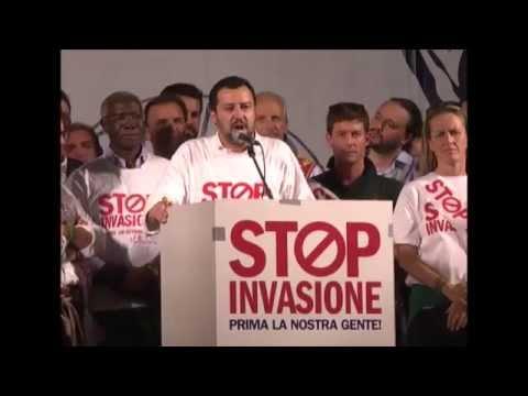 StopInvasione Milano - Intervento integrale di Matteo Salvini