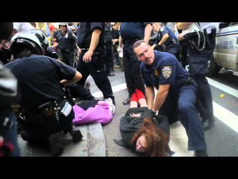 OWS New York City Police Dispersal Tactics