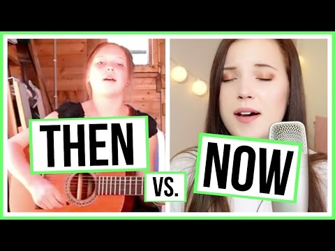 THEN VS. NOW! | Me singing 🎤