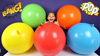 5 Giant Balloons Toy Surprise - Disney Princess Toys - Shopkins - Num Noms - Toys For Kids