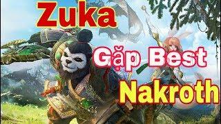 [Gcaothu] Gặp best Nakroth phong cách bỏ rừng đi lane và cái kết sấp mặt - Zuka lên đồ khỏe nhất