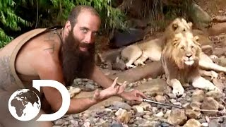 Naked, Alone and Surrounded by Lions | Naked and Afraid XL