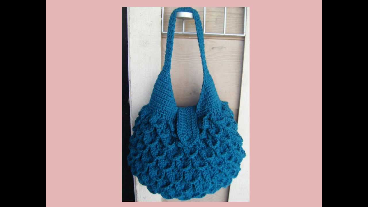 Crochet Bag Youtube : Crocodile Crochet Bag PATTERN - YouTube