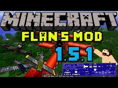 Minecraft Mods: Como Instalar y Descargar FLAN'S (armas y aviones) MOD Para minecraft 1.5.2