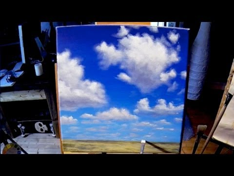Free Acrylic Painting Lesson In Real Time - Painting Simple Clouds Music Videos