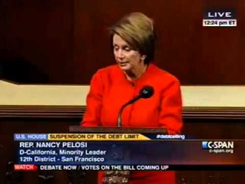 Pelosi: GOP's Debt Gimmick Plan Does Not Have My Support
