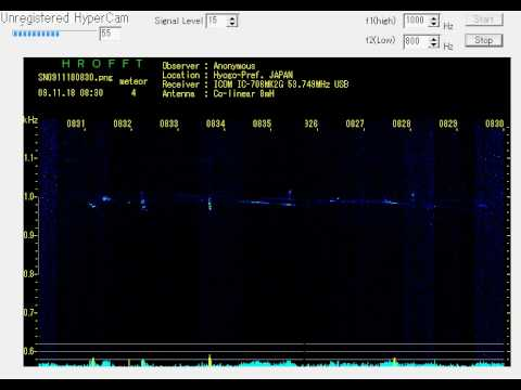 Tags leonids meteor shower hro ham radio observation long echo