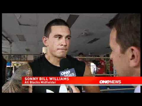 sonny bill williams training and talking about rugby
