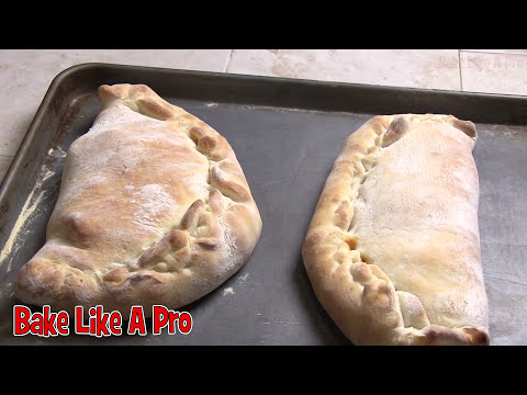 How To Make Cheese And Pepperoni Calzones ( Cheese and pepperoni pizzas folded )