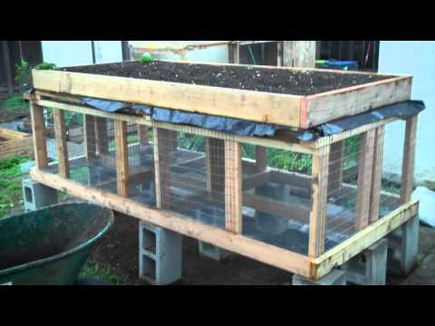 Building A Raised Bed Rabbit Hutch Part 1 How To Save
