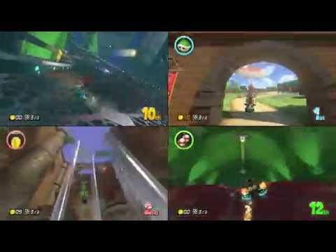 Mario Kart 8 - VS Mode - All 32 Tracks / Courses with 4 players!