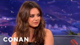 Mila Kunis Has A Badass Stare Of Doom - CONAN on TBS