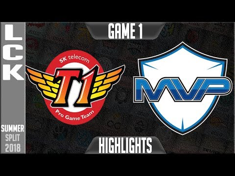 SKT vs MVP Highlights Game 1 LCK Summer 2018 Week 2 Day 2 SK Telecom T1 vs MVP G1