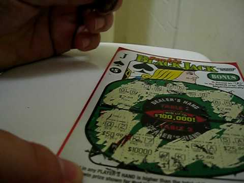 Blackjack Instant Scratch Off Lottery Ticket that Cost $5