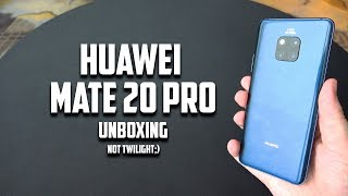Huawei Mate 20 Pro Midnight Blue Edition Unboxing