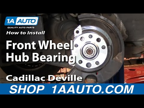 How To Install Replace Front Wheel Hub Bearing Cadillac Deville 97-99 Part 2 1AAuto.com