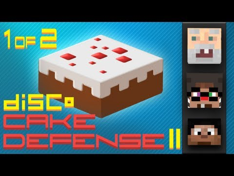 Minecraft Cake Defense II w/ BdoubleO, Chimneyswift, and GenerikB 1 of 2