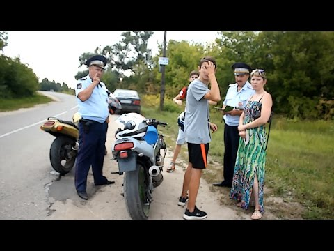 ДПС поймали школьников на спортах  Парень лишился мотоцикла!