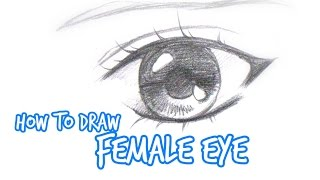 How to draw: Simple Anime/Manga eye FEMALE