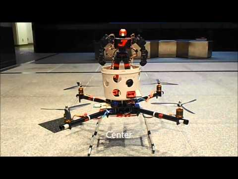 A Humanoid Robot Controls Quad Rotor Helicopter