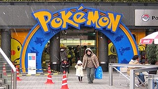 The REAL LIFE Pokemon Center in Japan!!