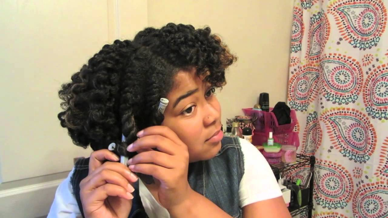 Twist And Curl On Natural Hair Using Aunt Jackie S Curl