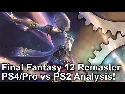 [4K] Final Fantasy 12 Zodiac Age PS4/PS4 Pro vs PS2/Emulation Graphics Comparison + Frame-Rate Test