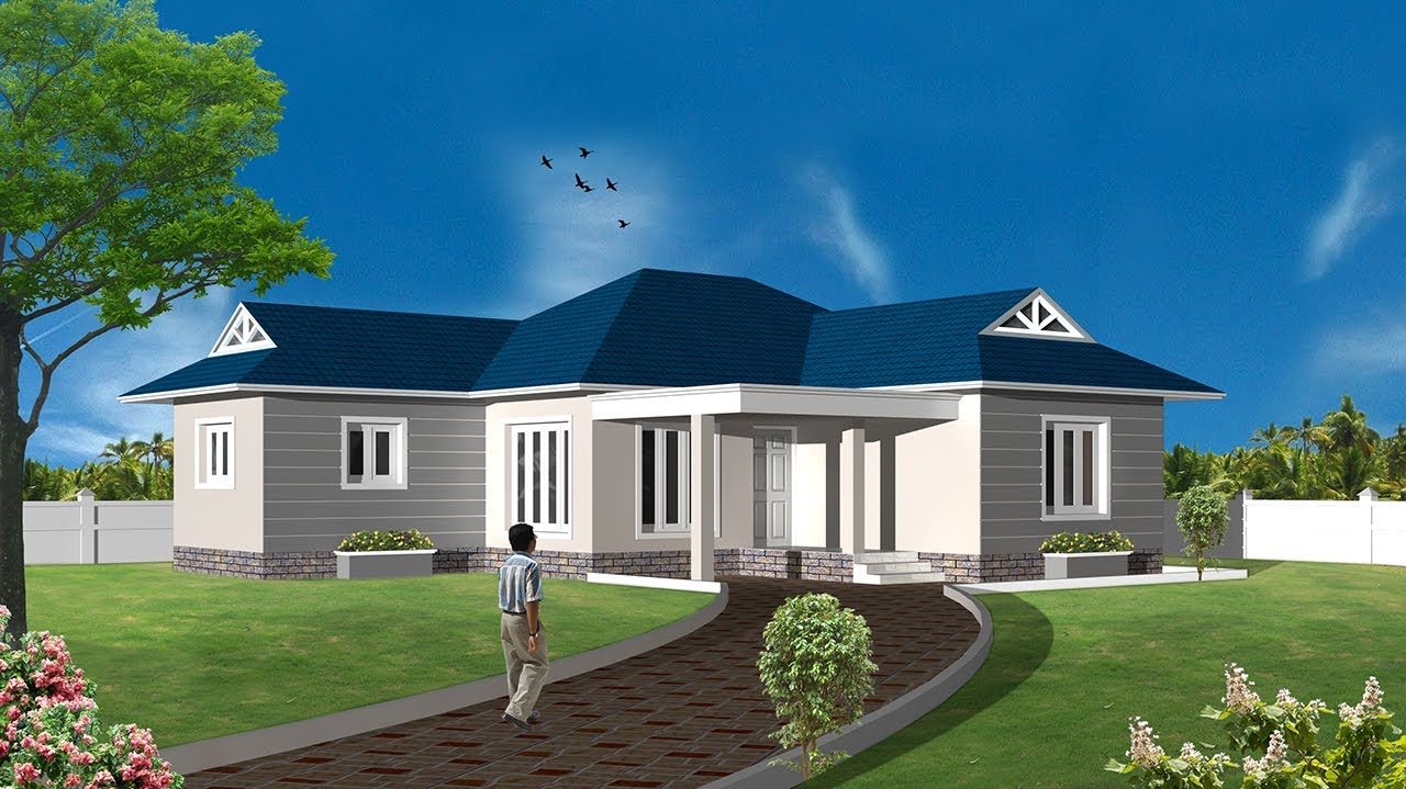 3d house using autocad and 3dstudio max intro youtube for Build a 3d house online