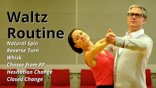 Waltz Basic Routine | Natural Spin, Whisk, Chasse