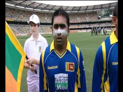 The Sri Lankan & Australian National Anthems At The Cricket One Day Finals video