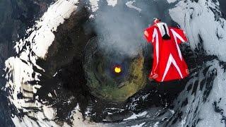 GoPro: Roberta Mancino's Wingsuit Flight Over An Active Volcano