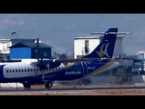 Buddha Air's ATR takes off in TIA, Kathmandu, Nepal