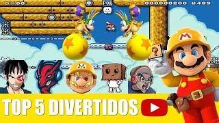 Top 5 jugadores mas divertidos de Super Mario Maker