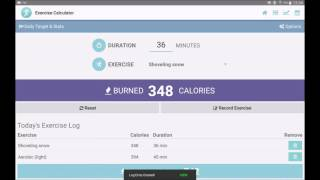 Exercise Calorie Calculator
