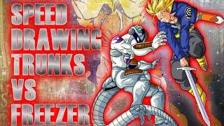 SPEED DRAWING MIRAI TRUNKS VS MECHA FREEZER DBZ - Greg Art's Mangas