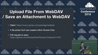 ownCloud conference 2018 Rocket.Chat ownCloud Integration