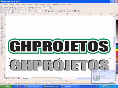 CONTORNO E SOMBREAMENTO INTERATIVO COREL DRAW