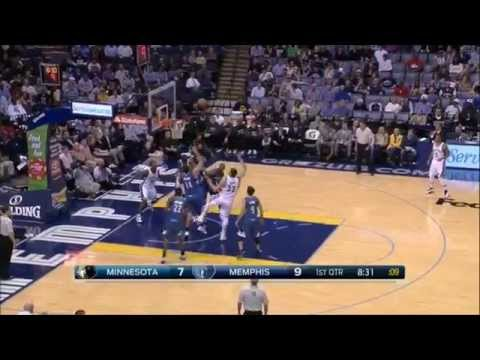 Marc Gasol with the moves and scores a beautiful basket - Timberwolves @ Grizzlies 29-10-14