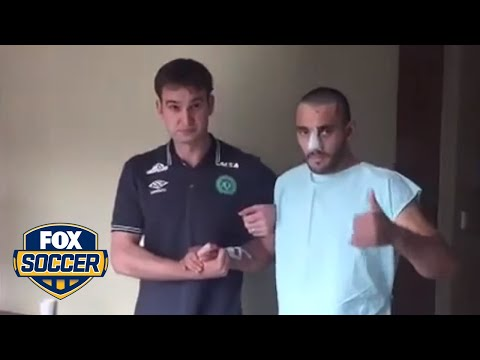 A Chapecoense player that survived the tragic plane crash is walking on his own