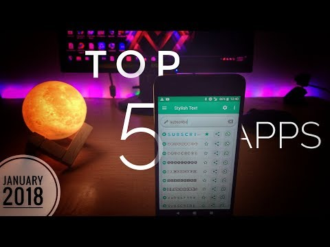 Top 5 Latest UNIQUE Android Apps | Best 5 Android APPS | JANUARY 2018