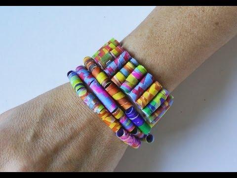 Manualidades pulsera y collar de colores manualidades - Manualidades con papel de colores ...
