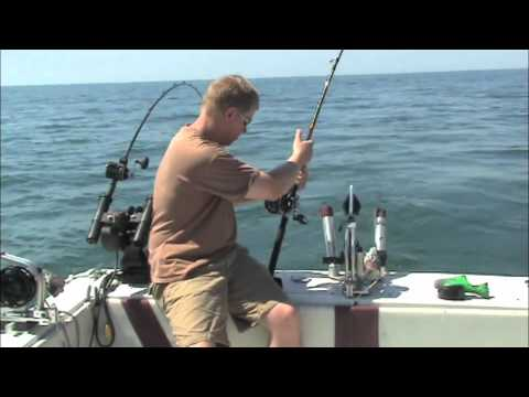 Salmon Fishing Lake Ontario With Reel Silver Charters 8-17-2011