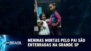 Corpos de meninas mortas pelo pai são enterrados na Grande SP | SBT Brasil (16/05/19)