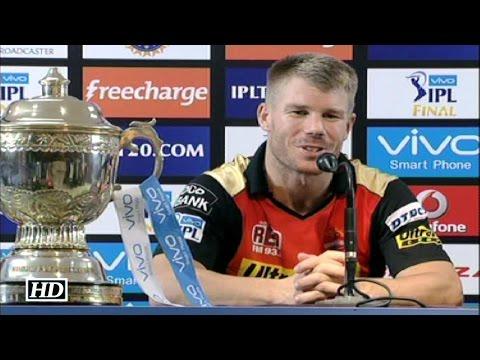 IPL9 Final RCB vs SRH David Warner Reacts On The Win