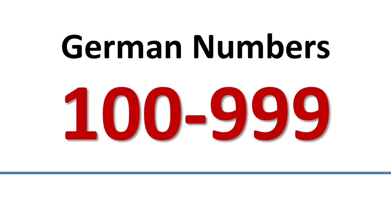 german vocabulary numbers 100999 english subs