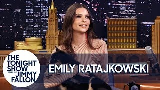 Emily Ratajkowski Debuts the Cutest Puppy Alive on The Tonight Show