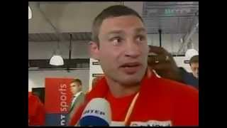 Lennox Lewis Touching Klitschko Ear