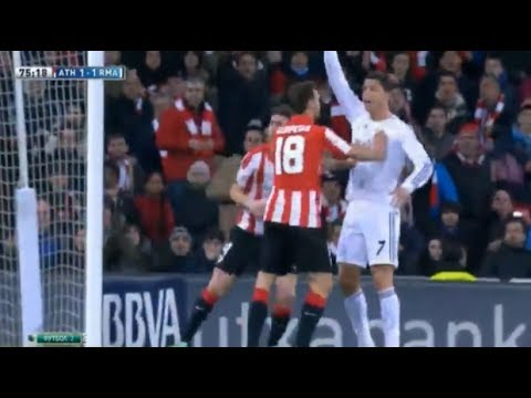 Cristiano Ronaldo Red Card vs Athletic Bilbao ~ Real Madrid vs Athletic Bilbao 1-1 TARJETA ROJA